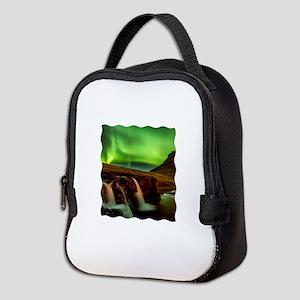 Wild Skies over Iceland Neoprene Lunch Bag