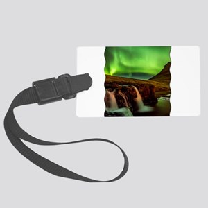 Wild Skies over Iceland Luggage Tag