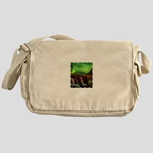 Wild Skies over Iceland Messenger Bag