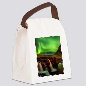 Wild Skies over Iceland Canvas Lunch Bag