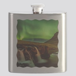 Wild Skies over Iceland Flask