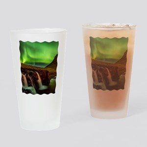 Wild Skies over Iceland Drinking Glass