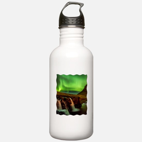 Wild Skies over Iceland Water Bottle