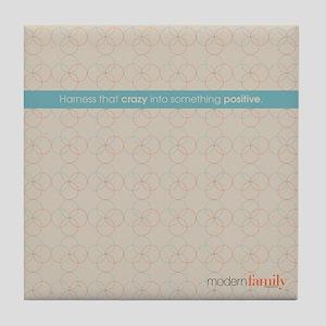 Modern Family Books Tile Coaster