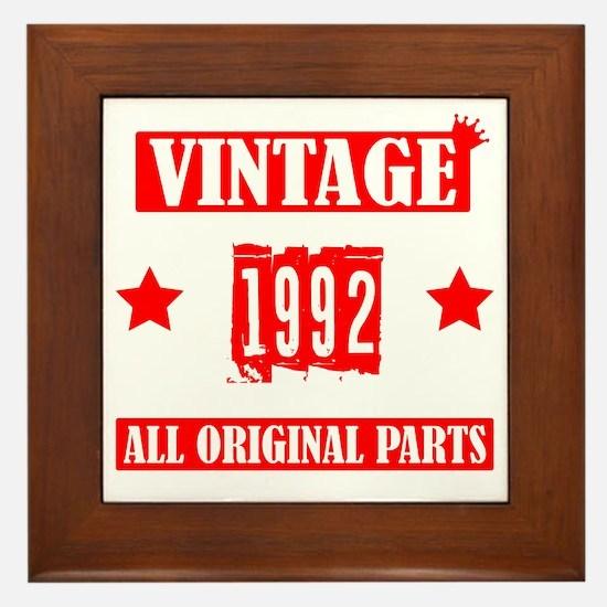 Unique Vintage 1992 Framed Tile