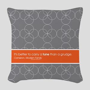 Modern Family Carry a Tune Woven Throw Pillow