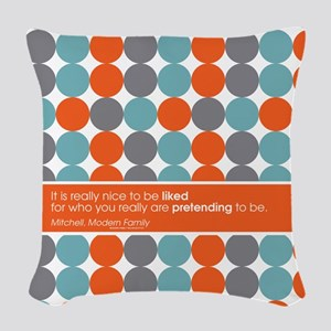 Modern Family Nice to be Liked Woven Throw Pillow