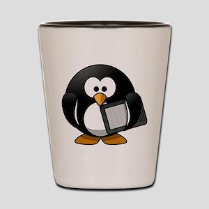 Modern Penguin Shot Glass