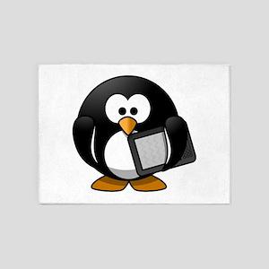 Modern Penguin 5'x7'Area Rug