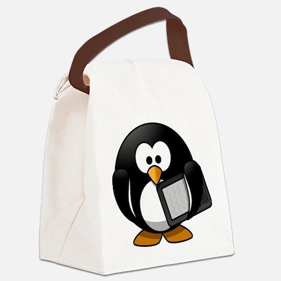 Modern Penguin Canvas Lunch Bag