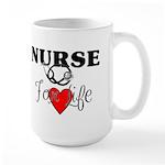 Nurse For Life Large Mug