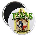 Texas Carboys - Green Logo Magnets