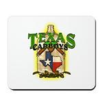 Texas Carboys - Green logo Mousepad