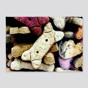 Dog Biscuits 5'x7'Area Rug