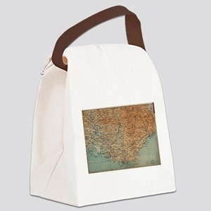 Vintage Map of Southern France (1 Canvas Lunch Bag