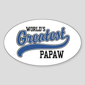 World's Greatest PaPaw Sticker (Oval)