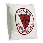 USS KEPPLER Burlap Throw Pillow