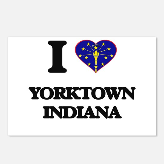 I love Yorktown Indiana Postcards (Package of 8)