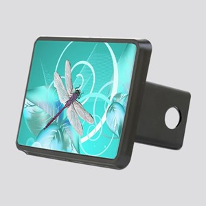 Cute Dragonfly Aqua Abstra Rectangular Hitch Cover