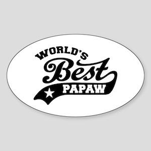 World's Best PaPaw Sticker (Oval)