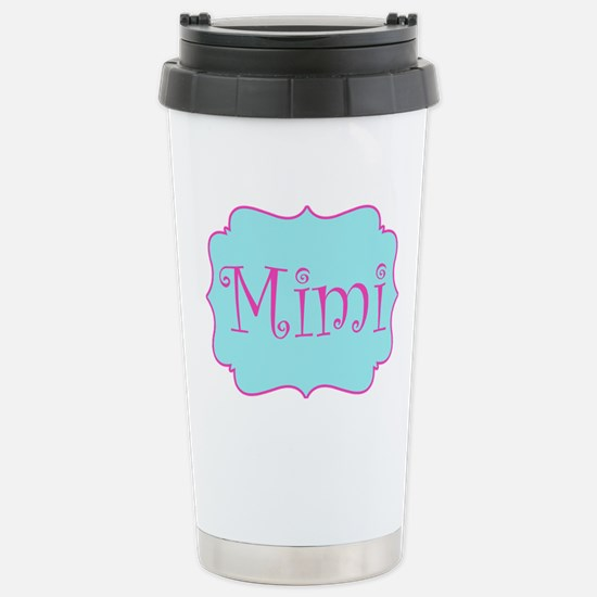 Mimi in Hot Pink and Bl Stainless Steel Travel Mug