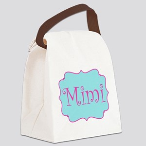 Mimi in Hot Pink and Blue Canvas Lunch Bag