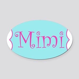 Mimi in Hot Pink and Blue Oval Car Magnet