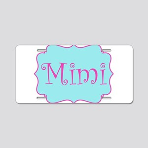 Mimi in Hot Pink and Blue Aluminum License Plate