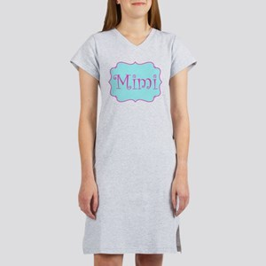 Mimi in Hot Pink and Blue Women's Nightshirt