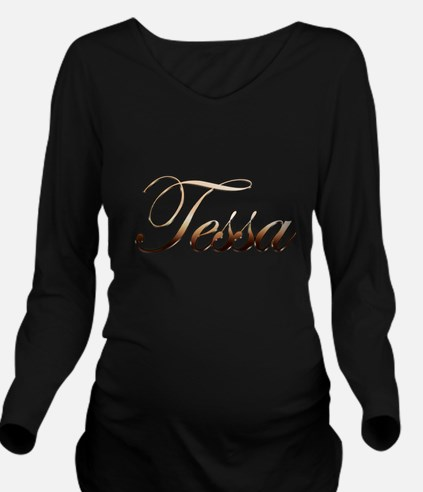 Gold Tessa Long Sleeve Maternity T-Shirt