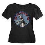 USS KEPP Women's Plus Size Scoop Neck Dark T-Shirt