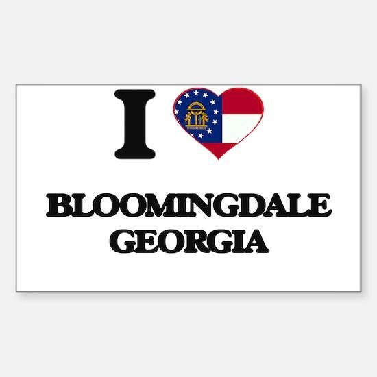 I love Bloomingdale Georgia Decal