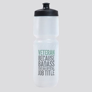 Veteran Badass Job Title Sports Bottle