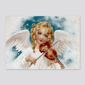 Heavenly Angel & Violin 5'x7'area Rug