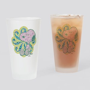 Snoopy Mosaic Drinking Glass