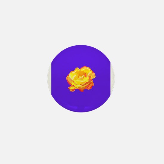 Yellow Rose Mini Button