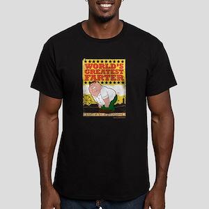 Family Guy World's Gre Men's Fitted T-Shirt (dark)