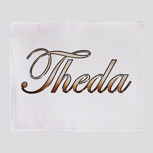 Gold Theda Throw Blanket