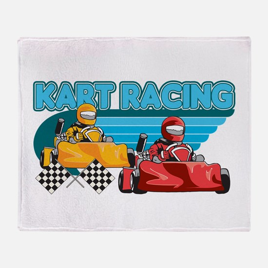 Kart Racing Throw Blanket