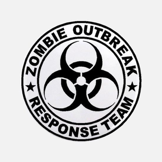 "Zombieresponseteambiocircle 3.5"" Button (100"