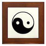 Yin and Yang Framed Tile