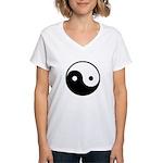 Yin and Yang Women's V-Neck T-Shirt