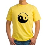 Yin and Yang Yellow T-Shirt