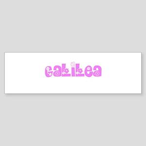 Galilea Flower Design Bumper Sticker