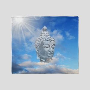 buddha in sky Throw Blanket