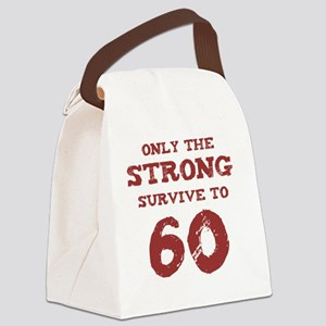 Strong 60th Birthday Canvas Lunch Bag