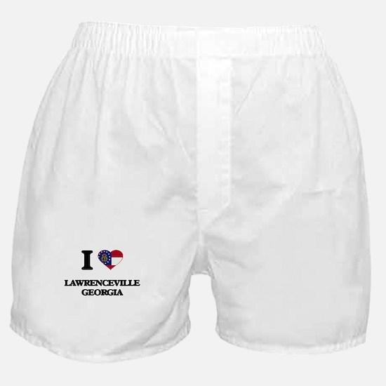 I love Lawrenceville Georgia Boxer Shorts