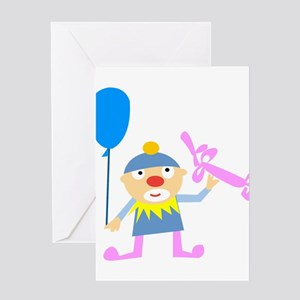 Birthday Clown Greeting Cards