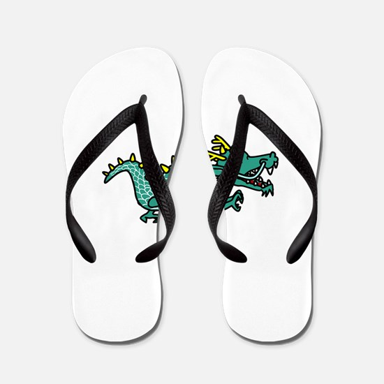 Happy Dragon Flip Flops