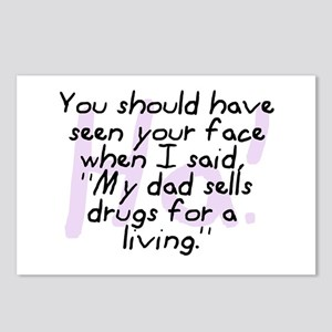 Dad Sells Drugs Postcards (Package of 8)